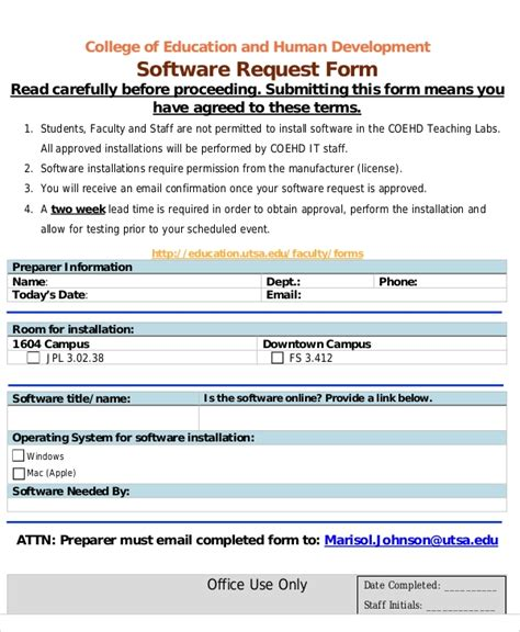 sample excel request forms  excel