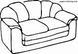 Coloring Sofa Pages Furniture Magic Household sketch template