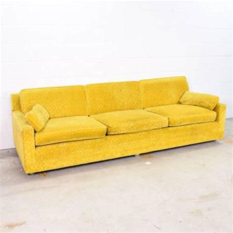 Funky Loveseat by Funky Retro Yellow Sofa W Casters Loveseat Vintage
