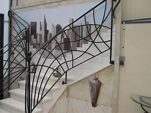 Rambarde Fer Forgé : rampe escalier en fer forge ferronnerie d art ~ Dallasstarsshop.com Idées de Décoration