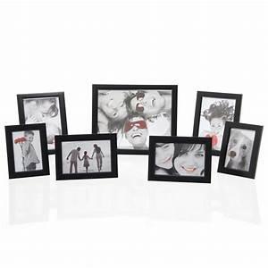 Lot Cadre Photo : lot de 7 cadres photos noir ~ Teatrodelosmanantiales.com Idées de Décoration