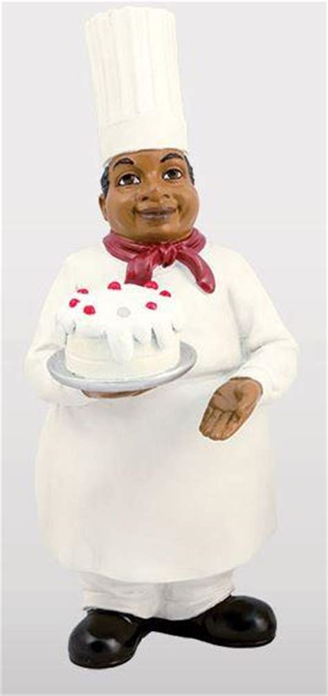 black chef kitchen accessories chef with cake kitchen figurine it s a black thang 4660