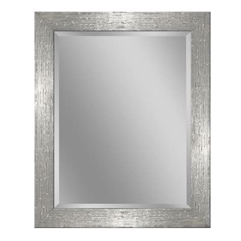 Chrome Framed Bathroom Mirror by Home Decorators Collection Emberson 34 In L X 25 In W