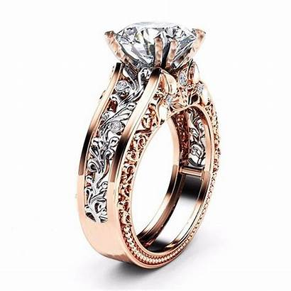 Rings Ring Rose Engagement Luxury 14k Band