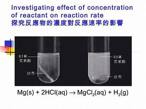 Factor Affecting Reaction Rate