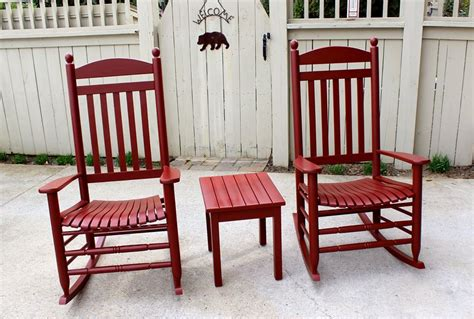 rocking chairs in tuscan red milk paint general finishes