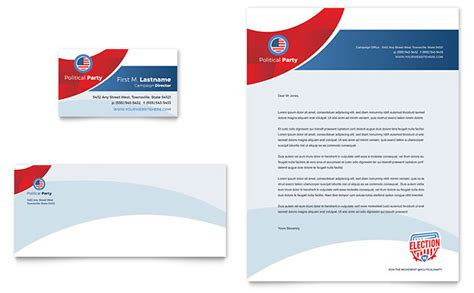 election business card letterhead template design