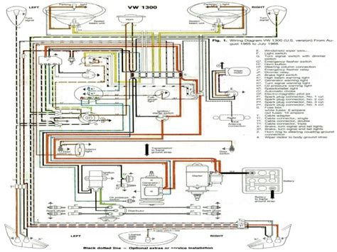 electrical wiring diagram for a 1965 vw beetle wiring forums