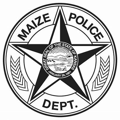 Badge Police Coloring Badges Pages Template Maize