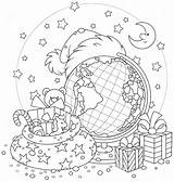 Coloring Pages Globe Boy sketch template