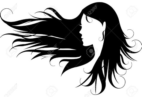 hair clipart black and white hair clipart the wind profile pencil and in color