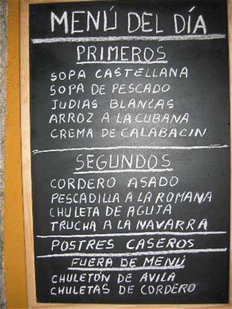 menu del  mucha variedad picture  restaurante san