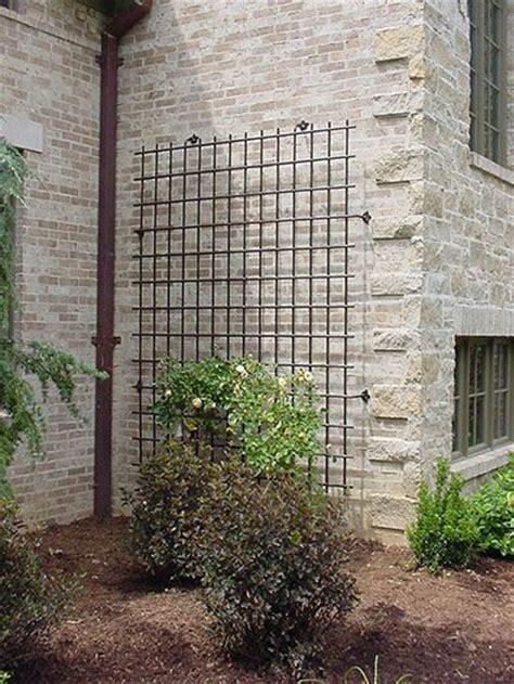 large scale decorative iron trellis   house wall