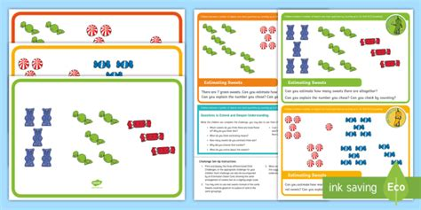 * New * Eyfs Maths Counting Chilli Challenges Estimating Sweets