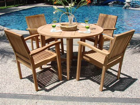 modern teak outdoor furniture decorating front yard
