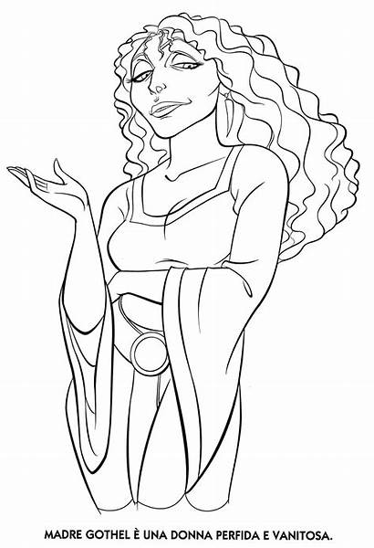 Gothel Mother Coloring Pages Dibujo Disney Villains