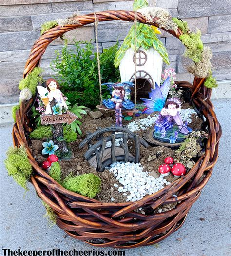 easter basket fairy garden  keeper   cheerios