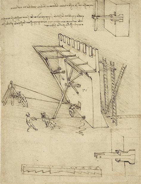 siege machine in defense of fortification with details of