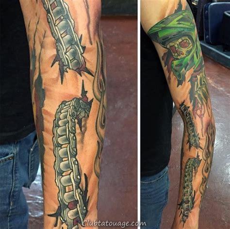 tatouage moto cross homme