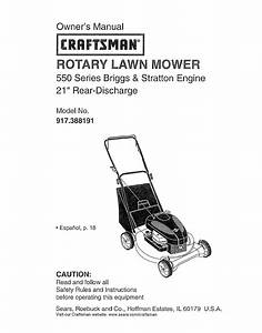 Craftsman Lawn Mower 917 388191 User Guide