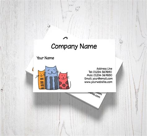 funny cats business cards customise