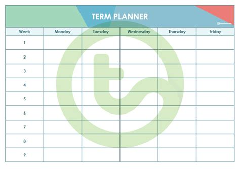 editable angles themed     week term planners