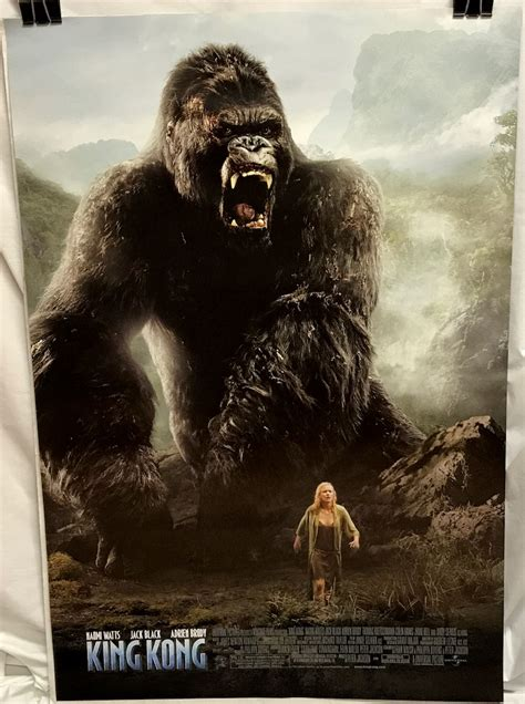 Yes, he is a monstrous, giant ape, but beneath his. King Kong (2005) Rolled One-sheet Poster