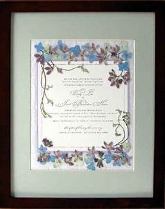 pressed flower art invitations and wedding on pinterest With pressed lavender wedding invitations