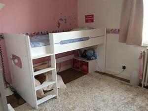 Lit Mi Haut Enfant : lit enfant mi hauteur spark blanc 90x200 cm ~ Teatrodelosmanantiales.com Idées de Décoration