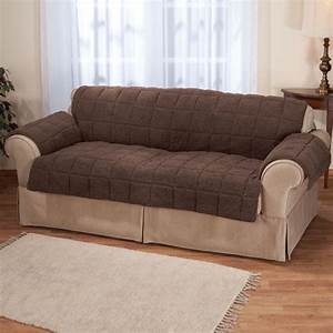 Waterproof sherpa sofa protector by oakridge easy comforts for Waterproof sofa cover incontinence