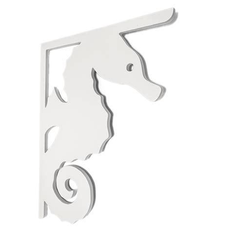 Pvc Porch Brackets by Nature Brackets Decorative 16 In Pvc Seahorse Mailbox Or