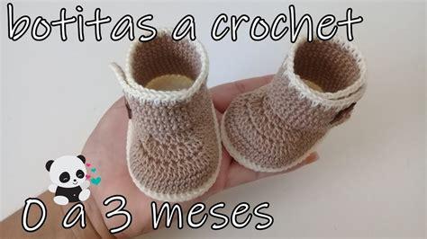 Tutorial botas de bebe a crochet 0 a 3 meses YouTube