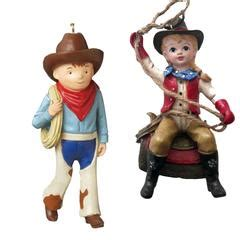 north pole west cowboy cowgirl christmas ornaments