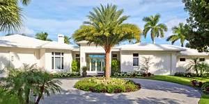 Naples, Florida, Modern, Private, Residence, -, Kolonialstil, -, Garten, -, Miami