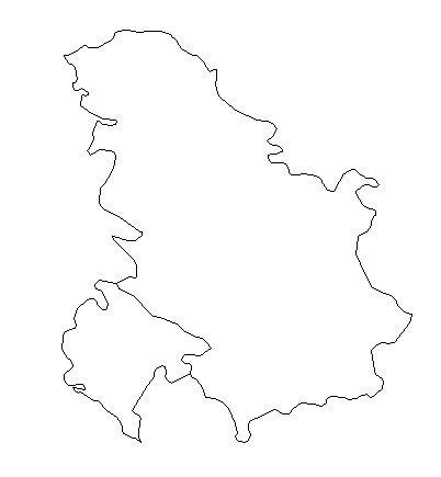 blank outline map  serbia  montenegro yugoslavia