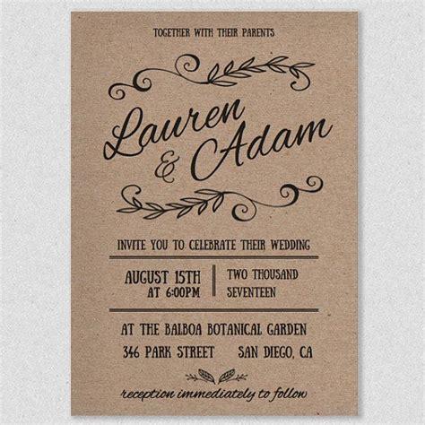wedding invite wedding invitation template printable