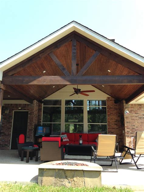 covered patio a frame stained cedar beams pools by