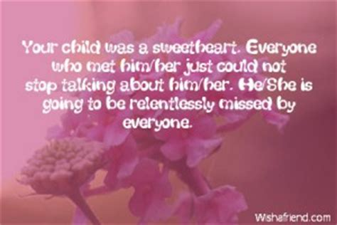 Sympathy Quotes Death Of A Child