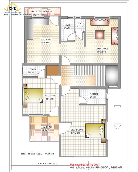 floor plans duplex house plan and elevation 2310 sq ft home