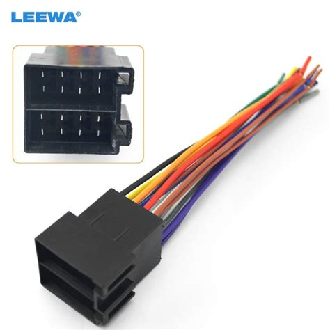 leewa universal iso radio wire wiring harness adapter connector car adaptor for