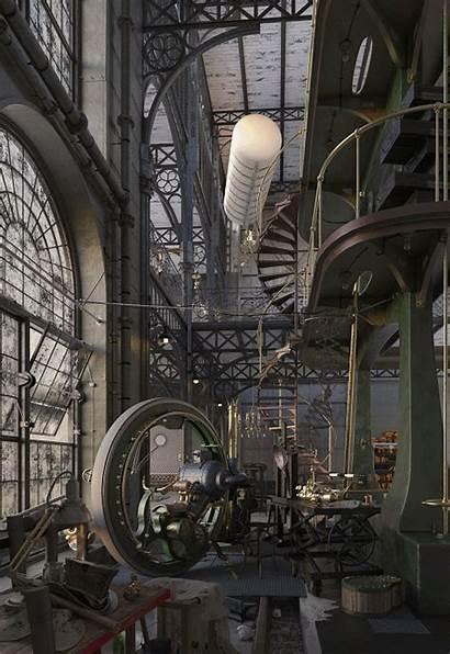 Steampunk Evermotion Loft Engine Challenge Interior Robert