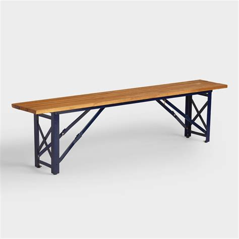 beer garden table and benches peacoat beer garden dining bench world market