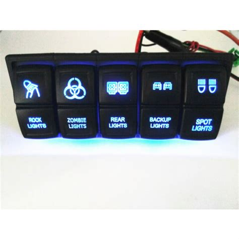 China Hot Cover Carling Style Led Rocker Switch