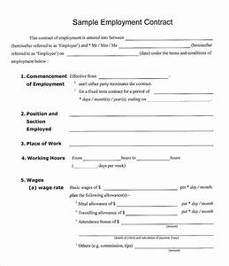 employment contract 9 download documents in pdf doc With standard contract of employment template