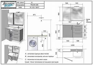 Plan De Meuble : un meuble sur mesure avec une machine laver int gr atlantic bain ~ Melissatoandfro.com Idées de Décoration