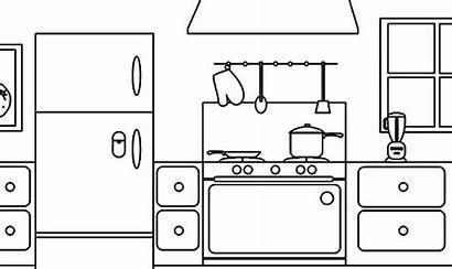 Coloring Kitchen Parts Pages Printable Colornimbus Kitchens