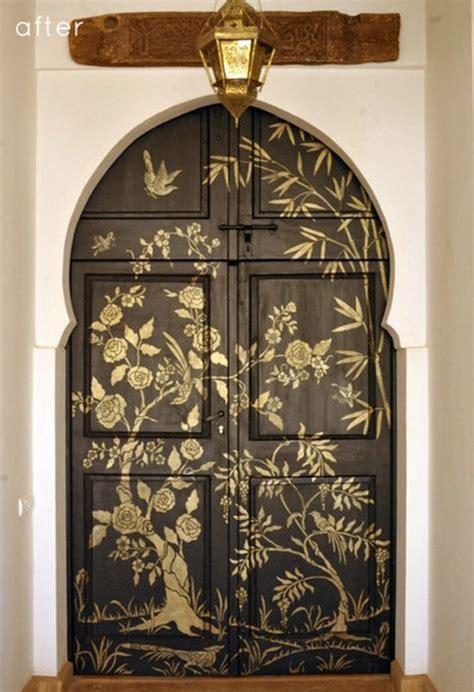 creative ideas  paint doors  stencils shelterness