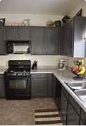 Painted Kitchen Cabinets Before And After Grey by Kitchens With Grey Painted Cabinets Painting Kitchen Cabinets Before And Af