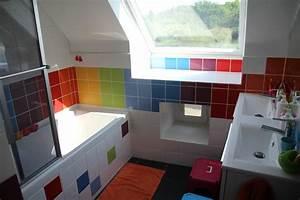 salle de bains arc en ciel le blog de marjoliemaman With salle de bain coloree