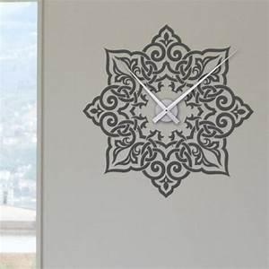 Décoration Murale Orientale : sticker horloge avec arabesque d coration murale horloge d corative ~ Teatrodelosmanantiales.com Idées de Décoration